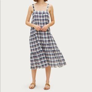 Jenni Kayne plaid seersucker tunic sundress dress